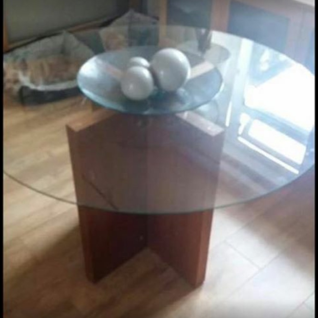 Habitat glass table
