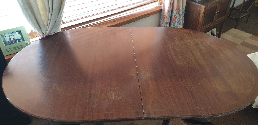 Large oval folding dining table 6 chairs