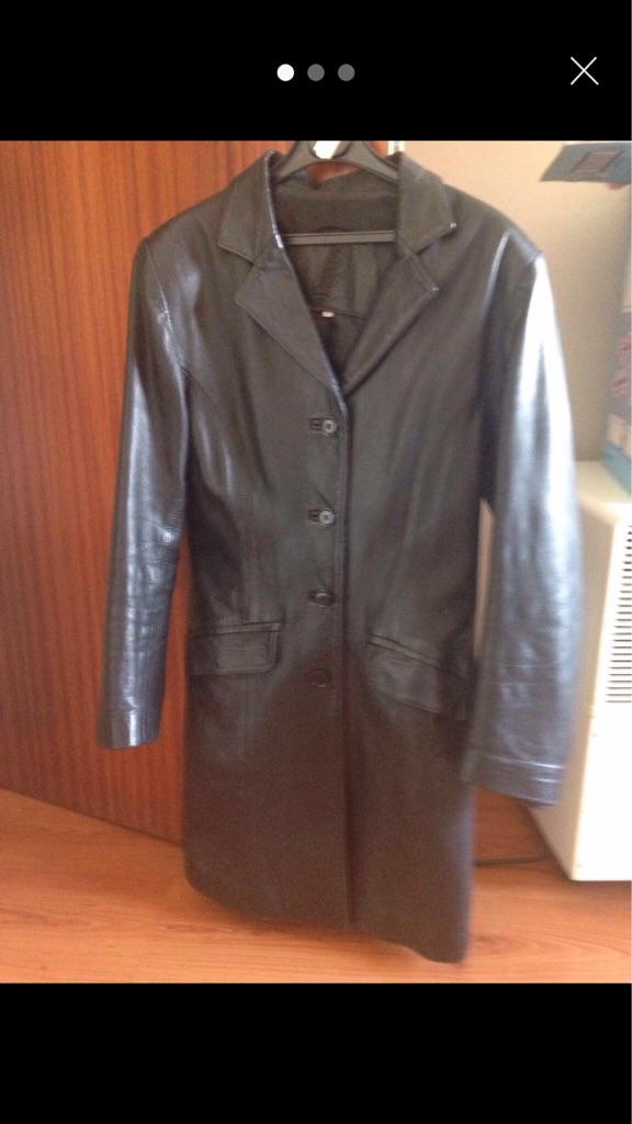 Genuine leather women's coat