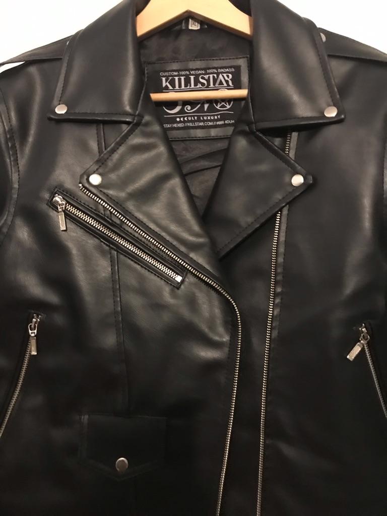 Killstar Leather Biker Jacket