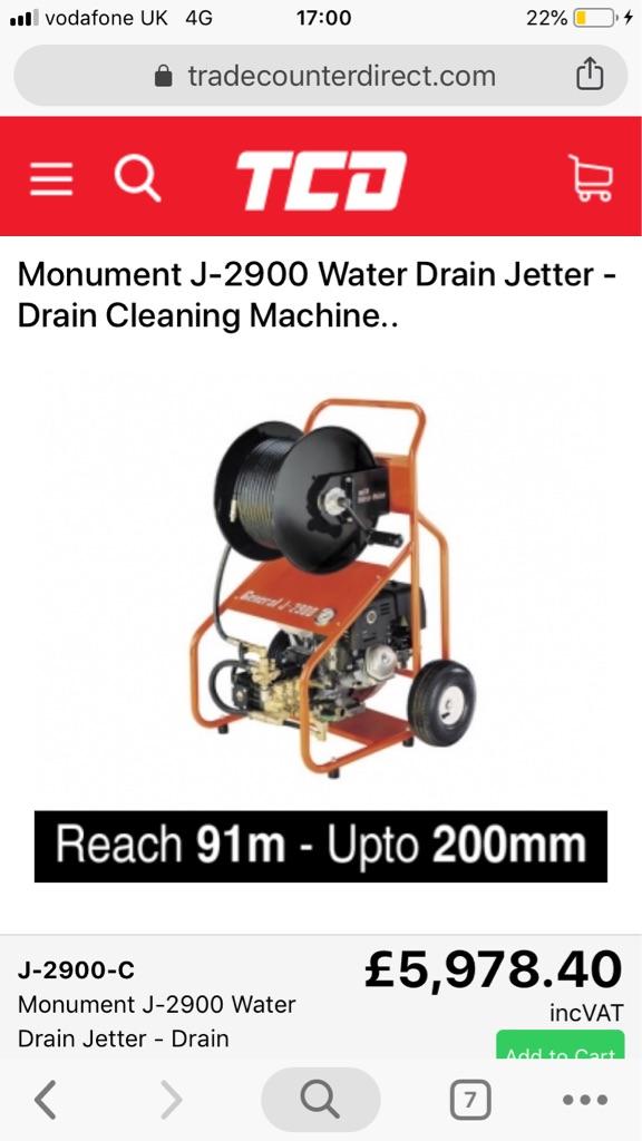 General J2900 pressure drain washer