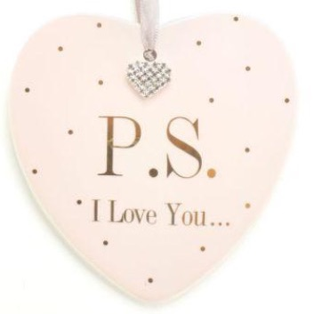 """""""PS I love you"""" mad dots plaque"""