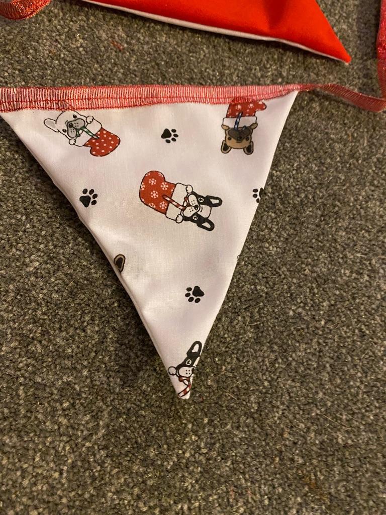 French bulldog Christmas bunting