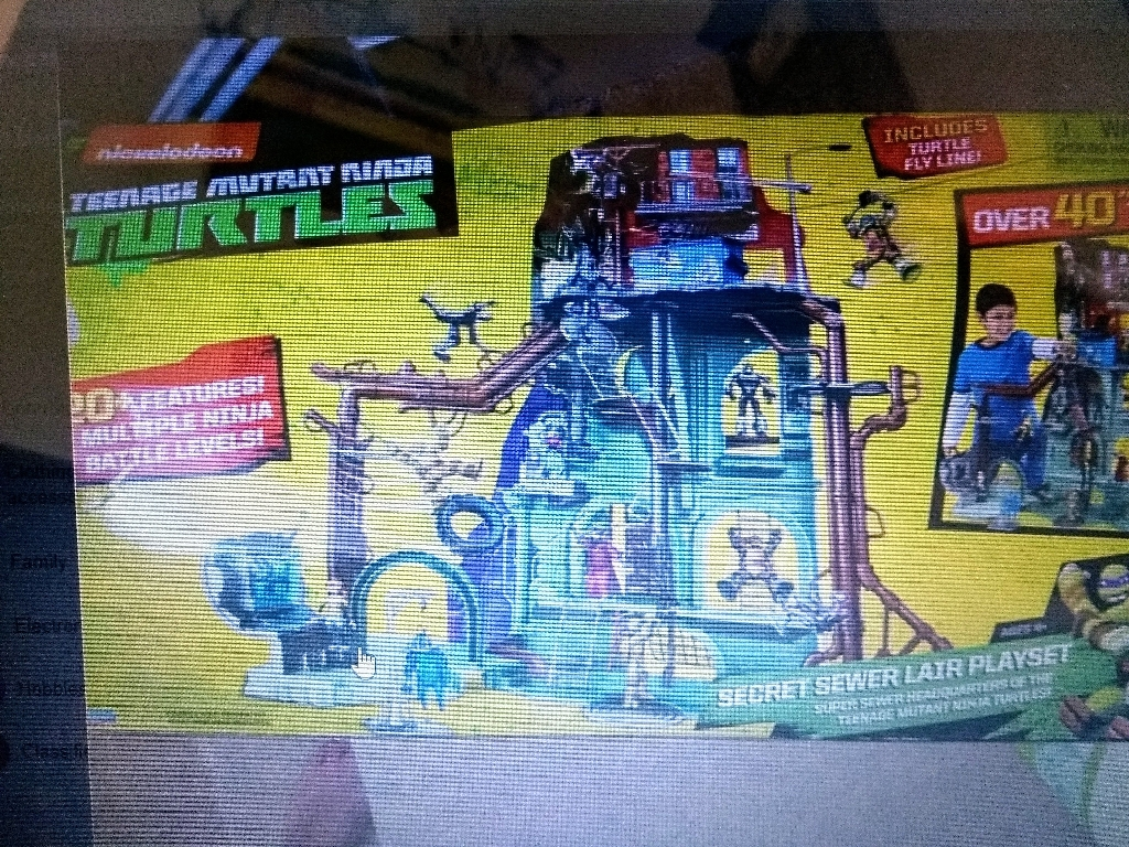 "TMNT Secure Sewer Lair playset.   40"" tall rest of attachments in box"