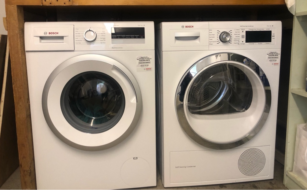 Bosch washing machine 8kg and tumble dryer 9kg