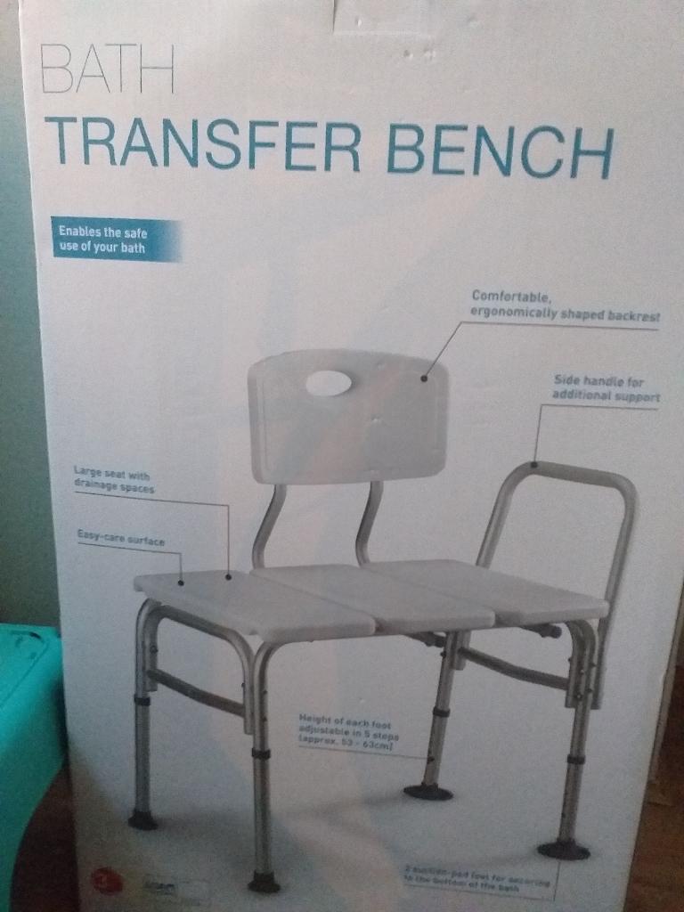 Bath Transfer Aid Bathroom Bench.. new