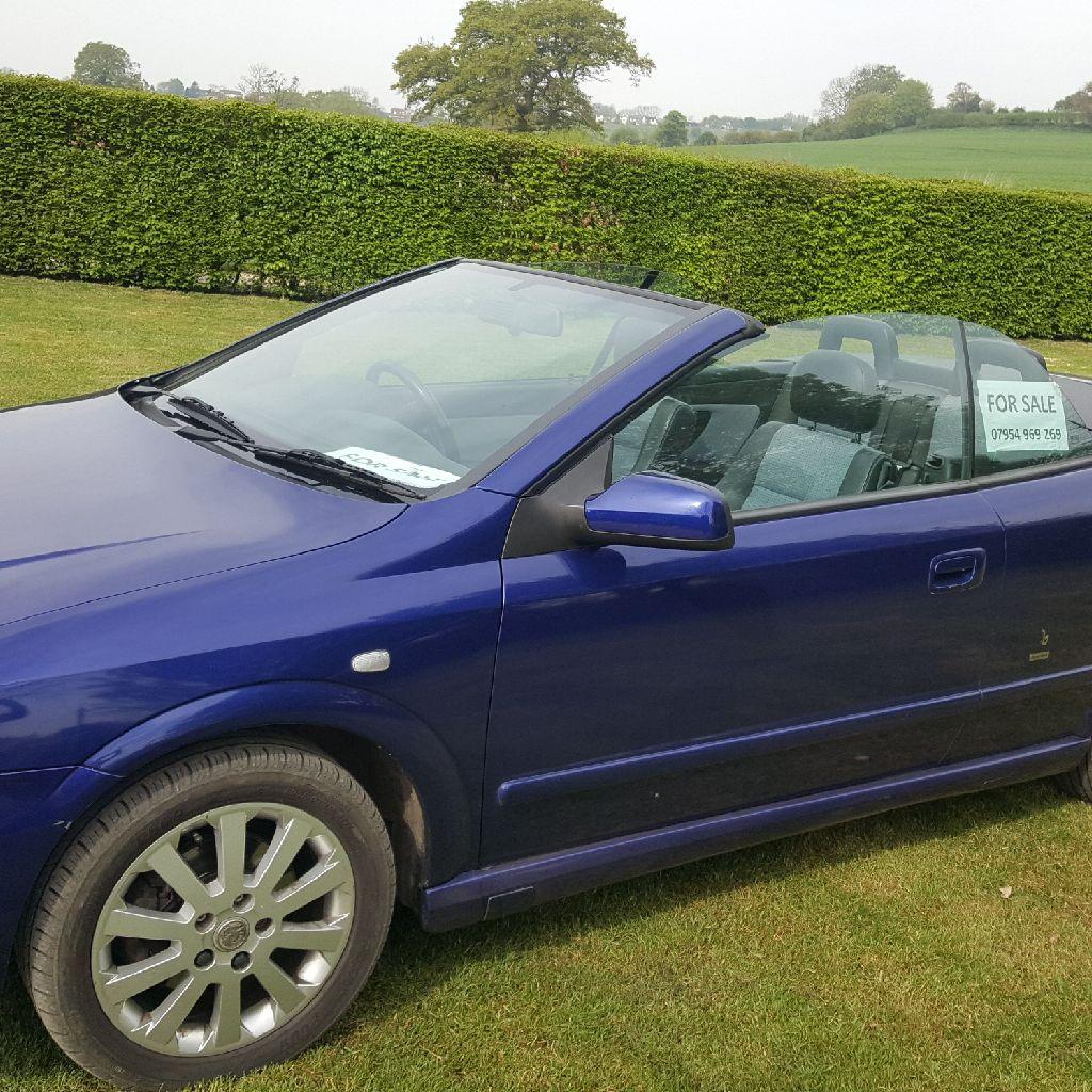 Vauxhall Astra Bertone Exclusive convertible 2005/06 Blue 4 seats