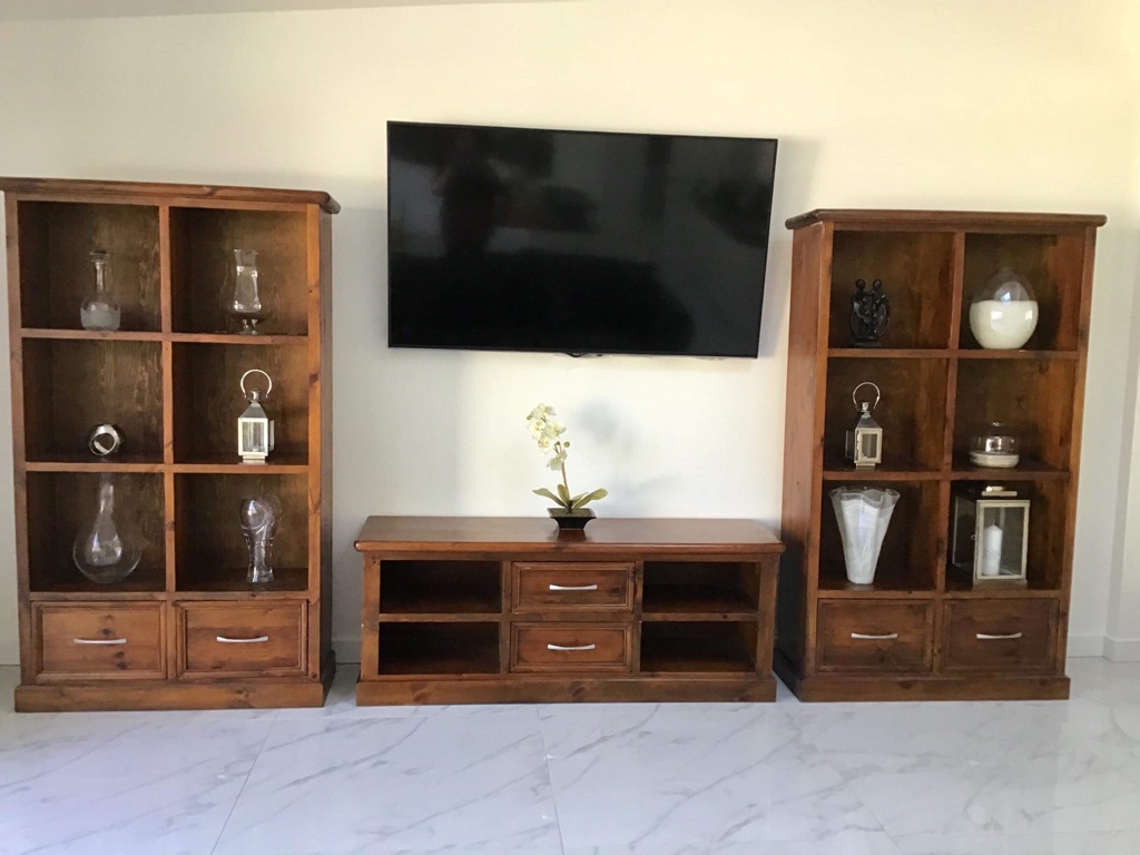 Bookcases and tv unit
