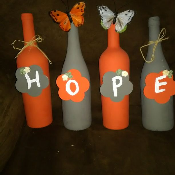 Wine bottle decor set