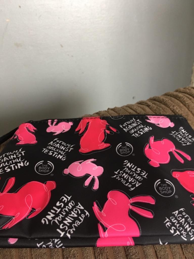 Forever against animal testing make up bag