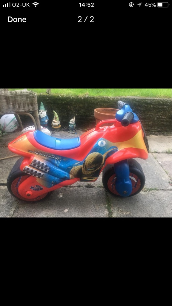 Spider-Man balance bike