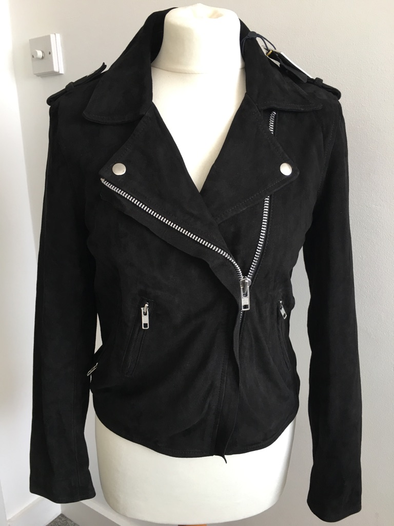 100% suede leather biker jacket