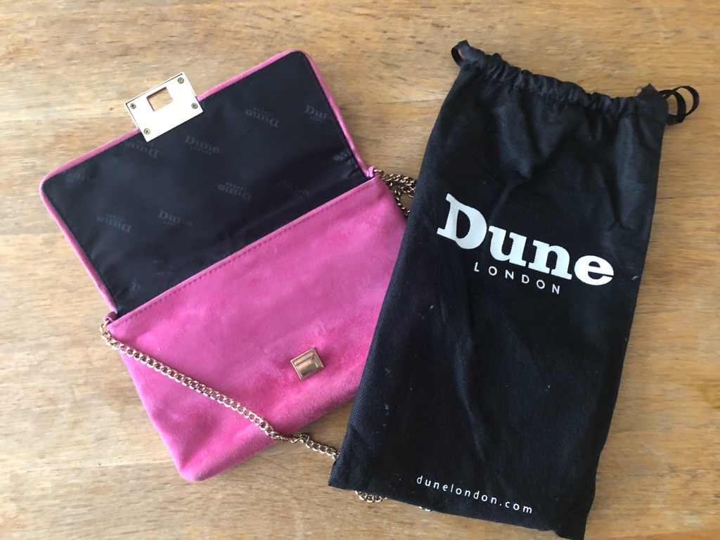 Dune Suede Evening Bag Hot Pink (Spring Collection 2015)