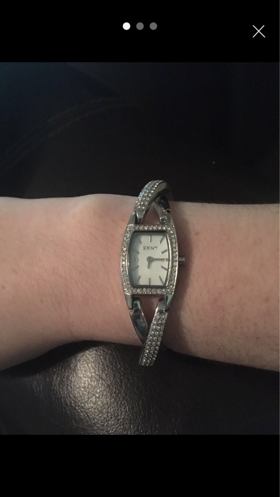 DKNY diamonte watch