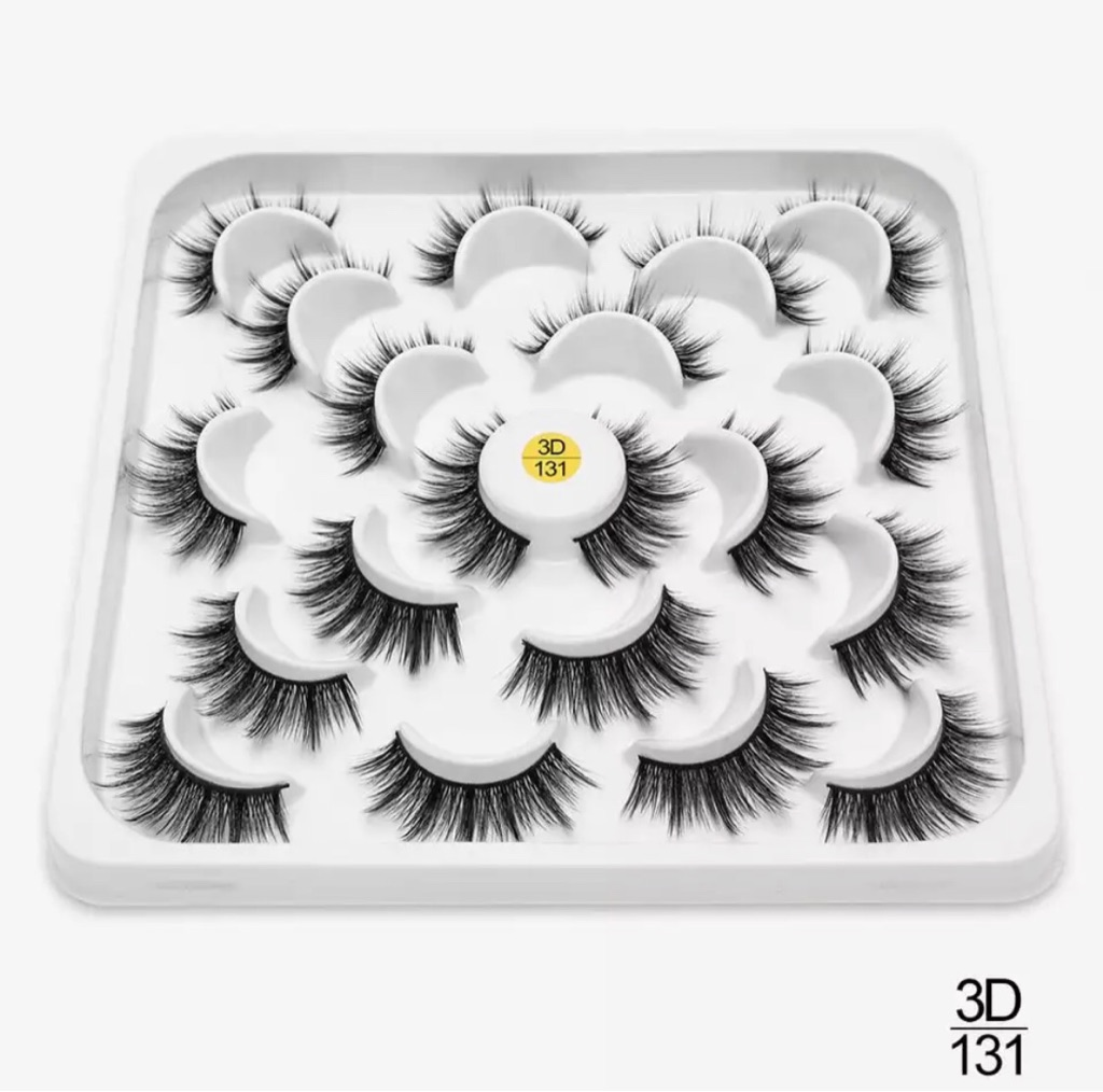 10 Pair 3D Faux Mink Eyelashes