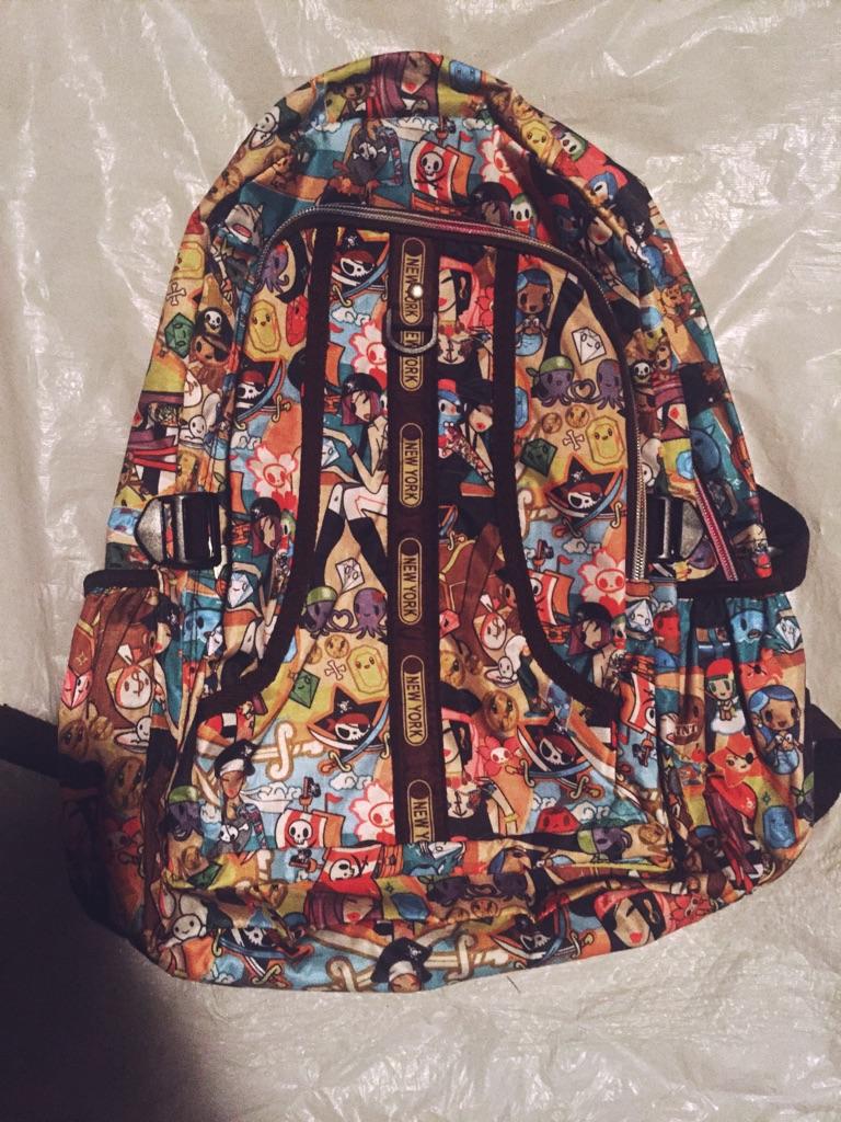 Tokidoki influenced backpack