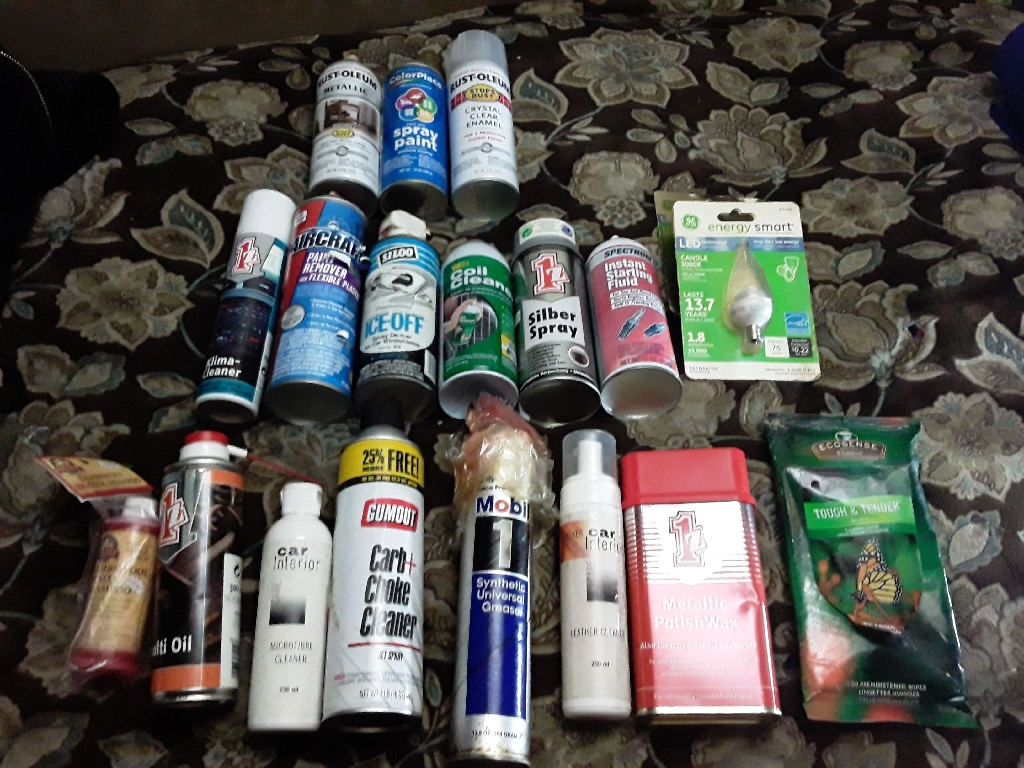 Automotive Cleaners and paint