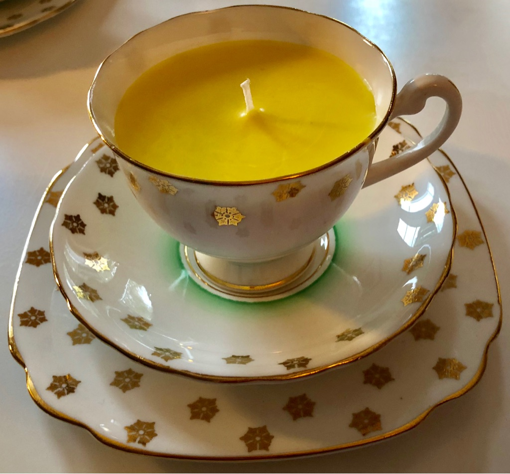 Soy wax teacup candles non toxic vintage bone China