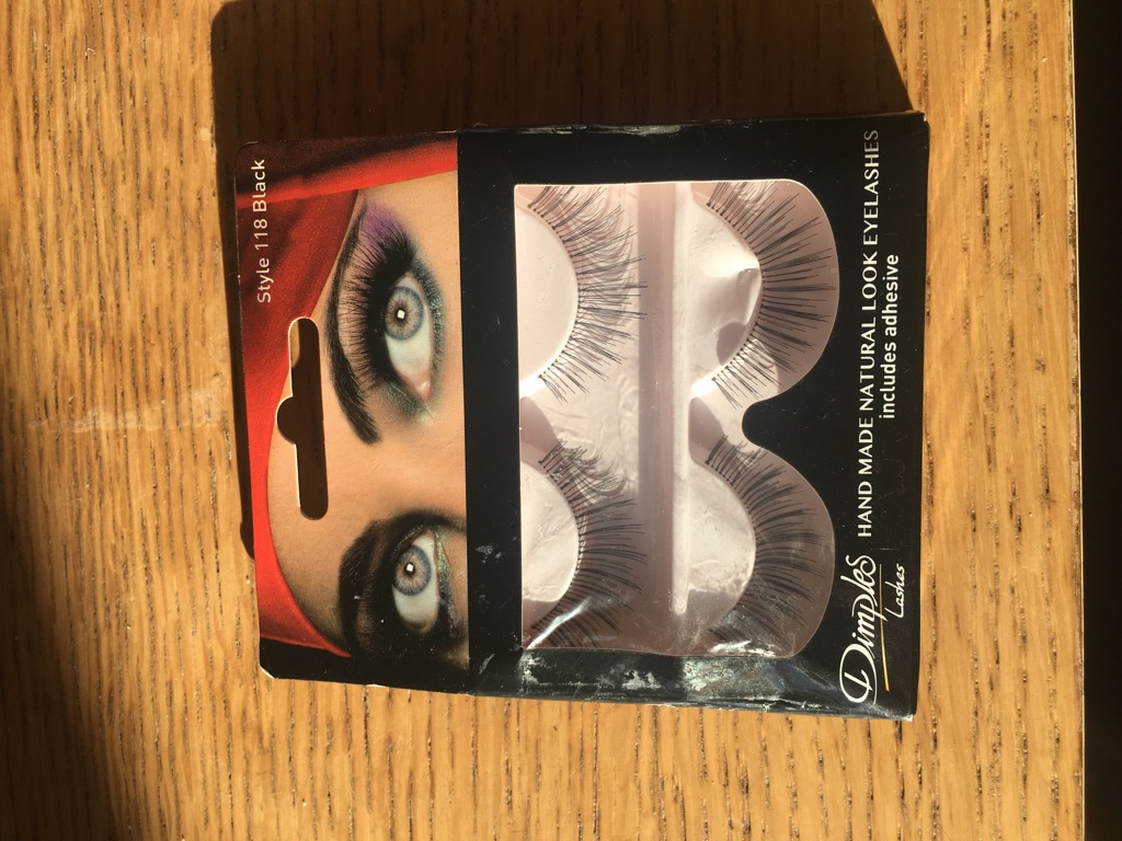 Dimples 2 pair eyelashes black New in Box