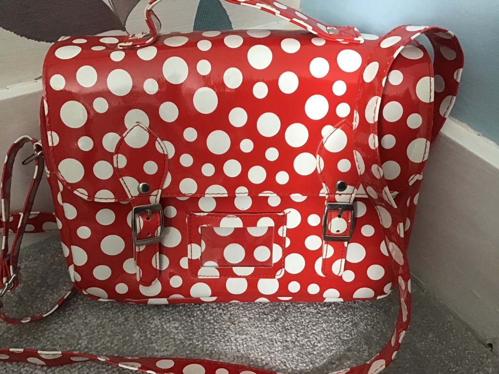 Red and White Insulated Lunchbag