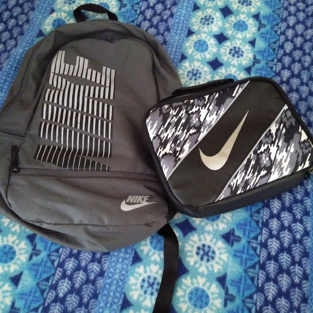 Nike backpack and lunch box