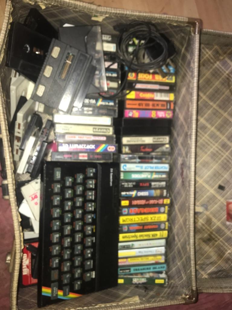 Zx Spectrum retro caking consul with 40+ games