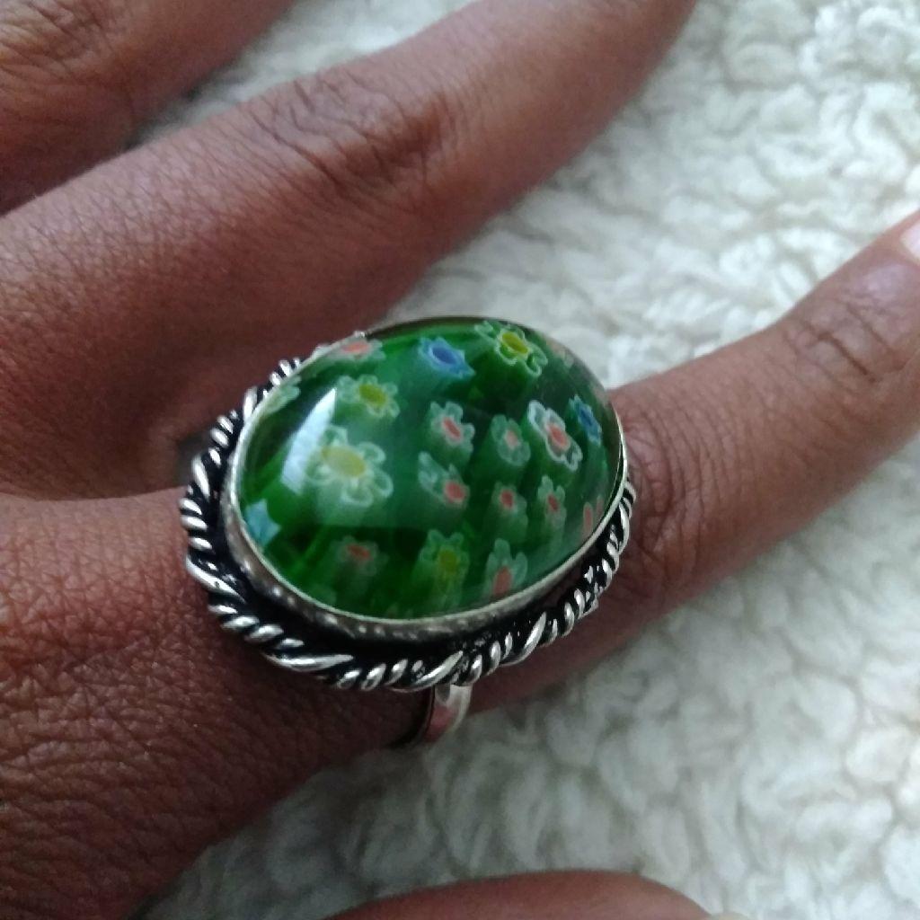 Italian Munro Glass Ring