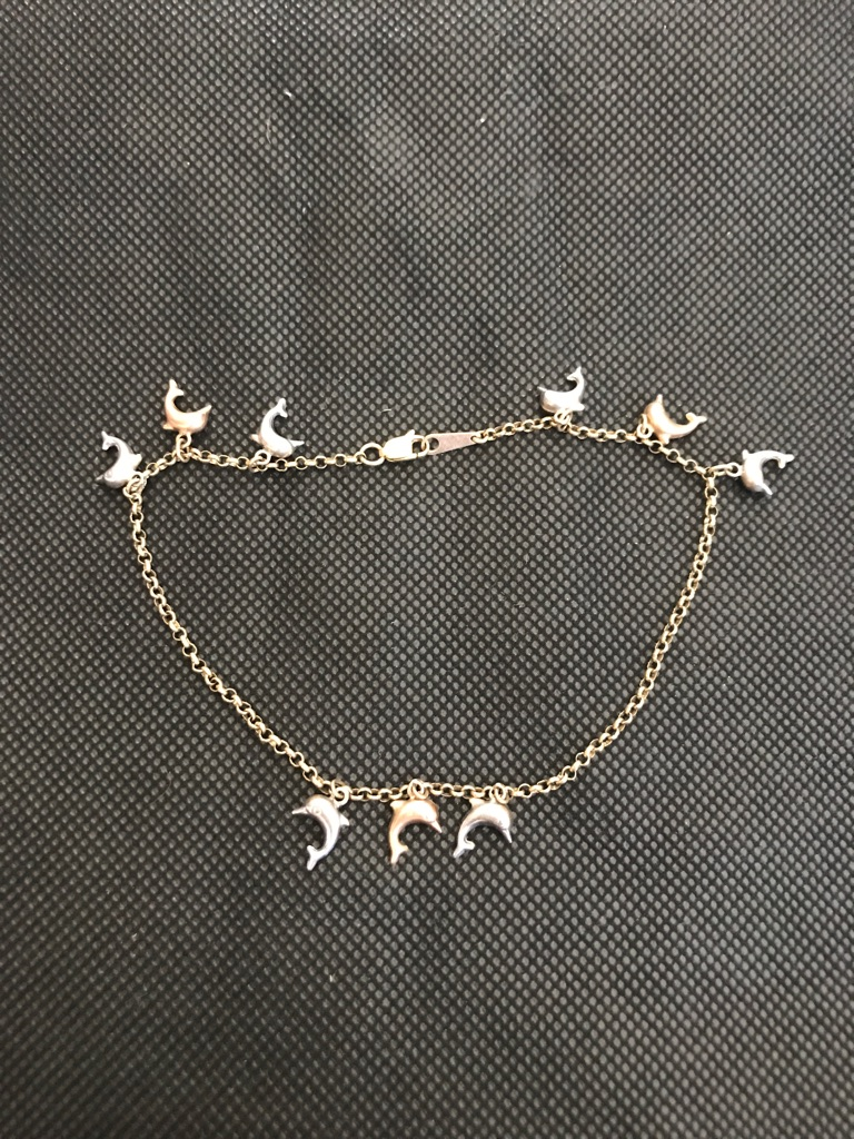 14kt gold ankle chain