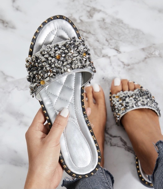 Rhinestone sandals $8 off