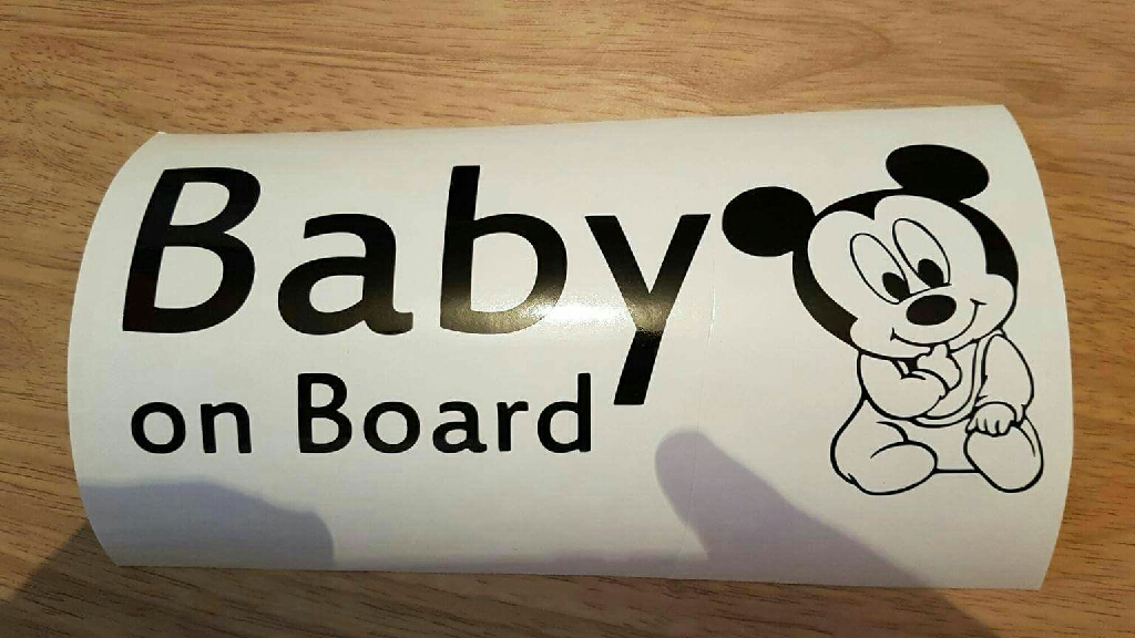 Mickey + minnie mouse Baby on Board