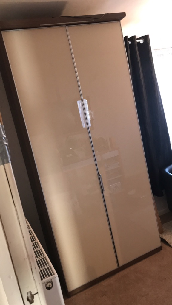 Glass front wardrobe
