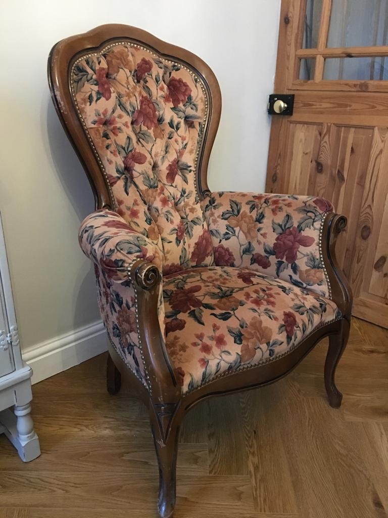 Genuine French Antique Armchair Louis XV style