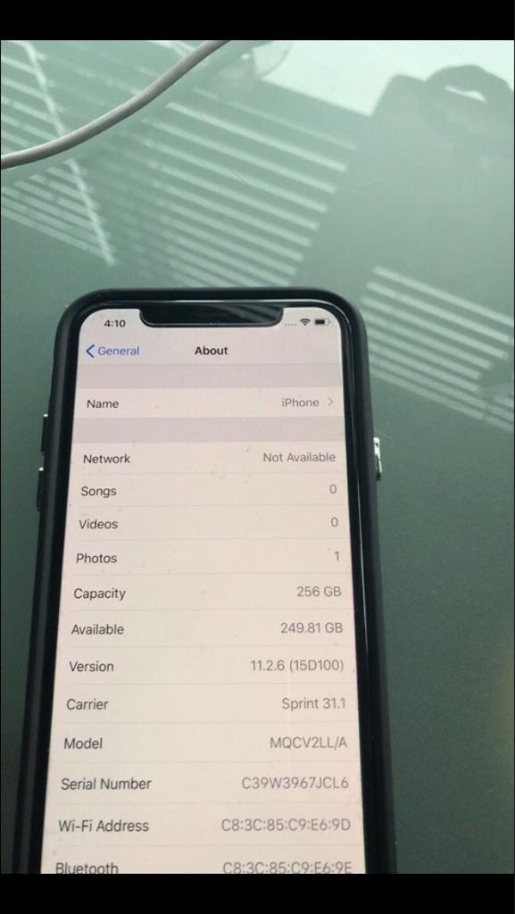 Black Apple iPhone X 256GB (Unlocked) Sprint