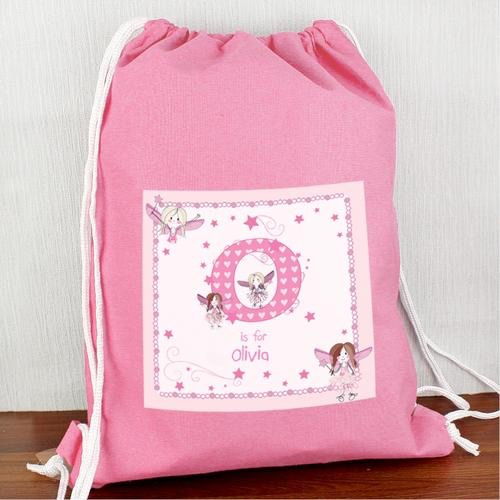 Personalised fairy letter swim & kit bag