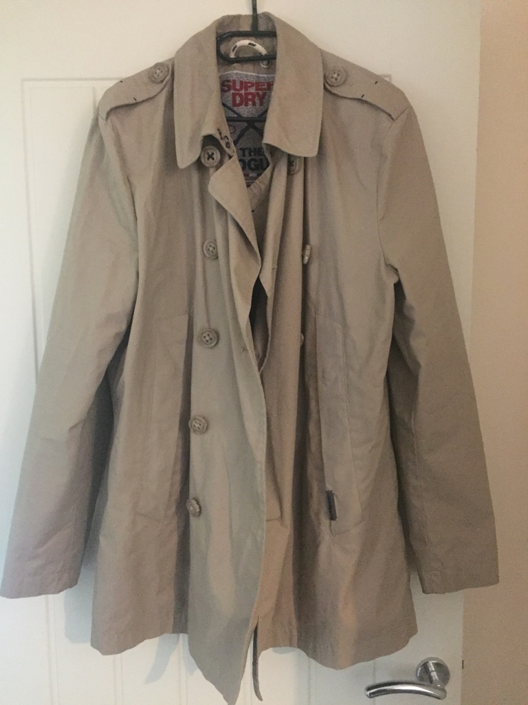 Superdry Rogue Mac - mens XL Stone