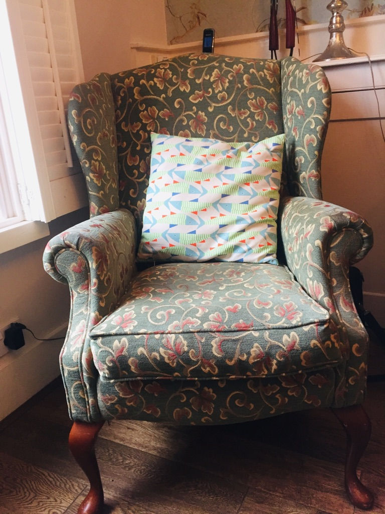 Wingback chair + kids table & chairs