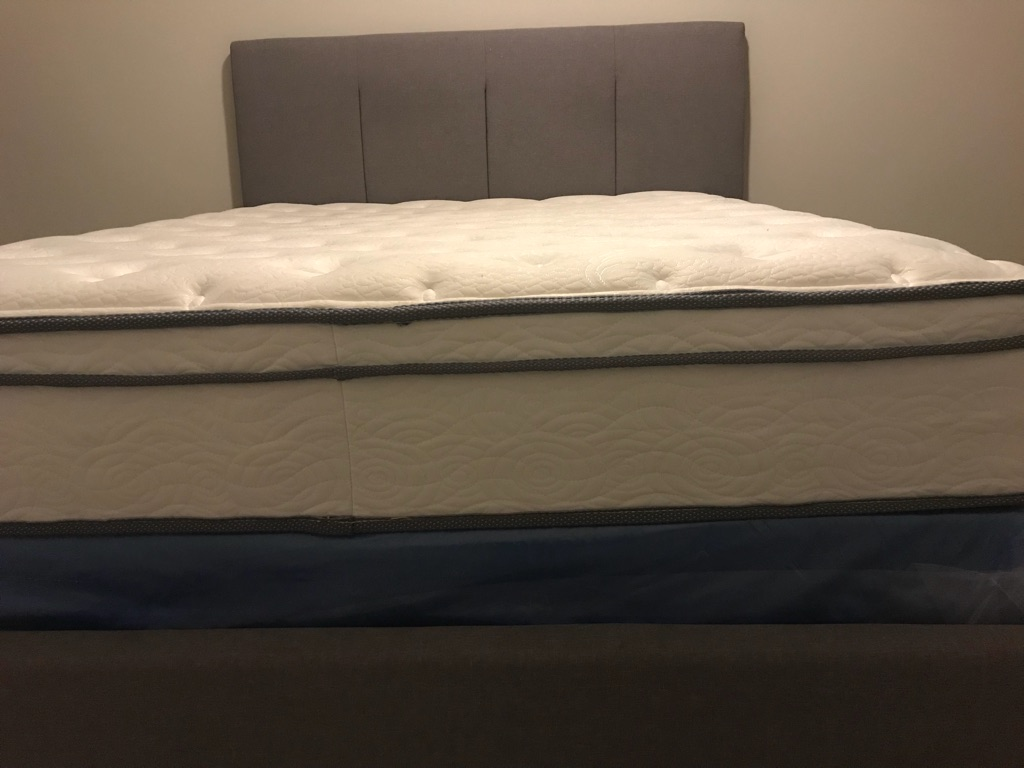 Queen Size Mattress and Foundation and Upholstered Bed