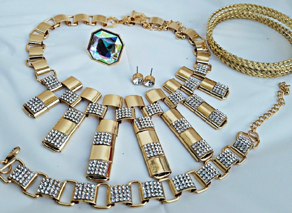 African costume bridal necklace sets