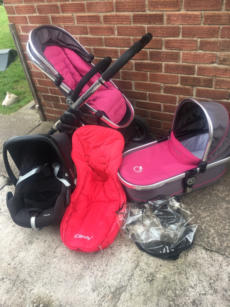 ICandy Peach, Maxi Cosi Pebble and Carry Cot