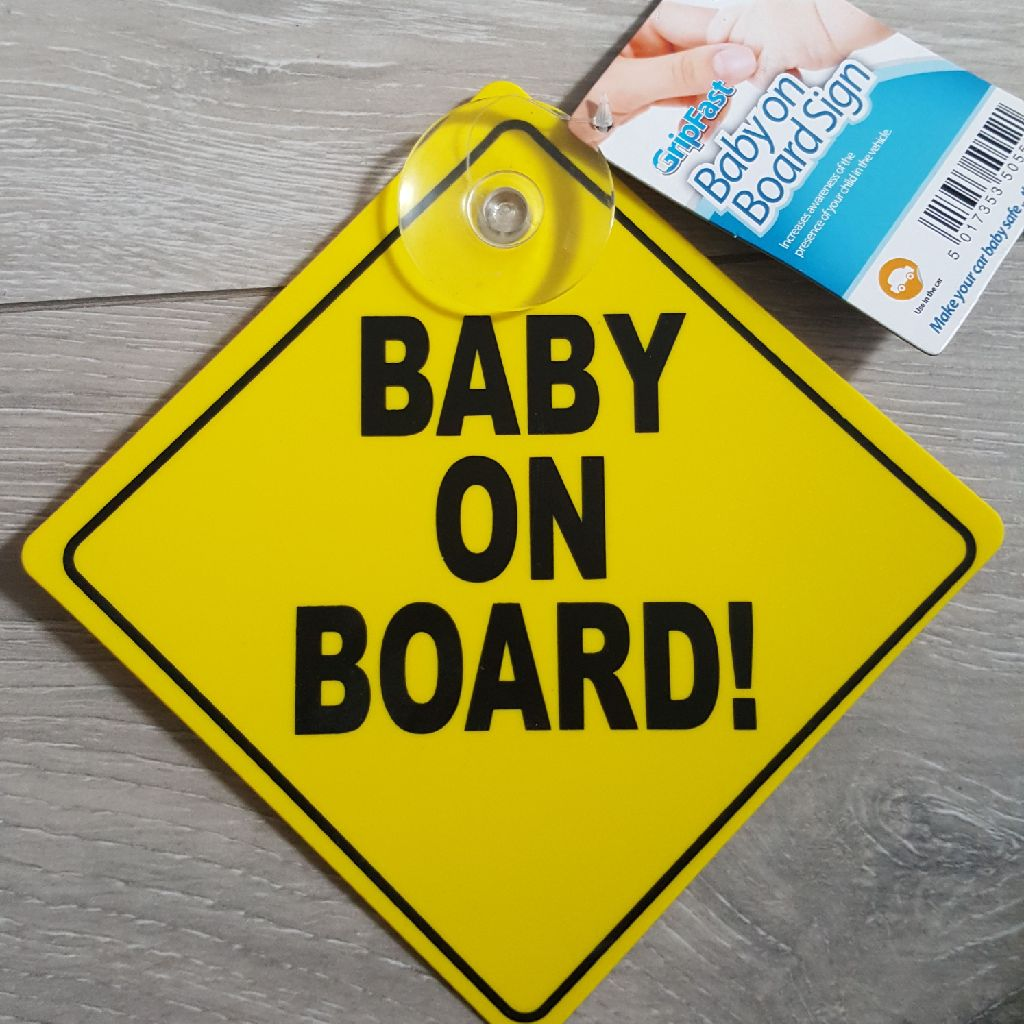 Baby on board sign 50p