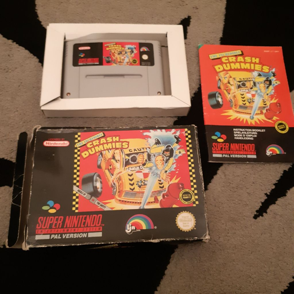 Crash dummies complete snes