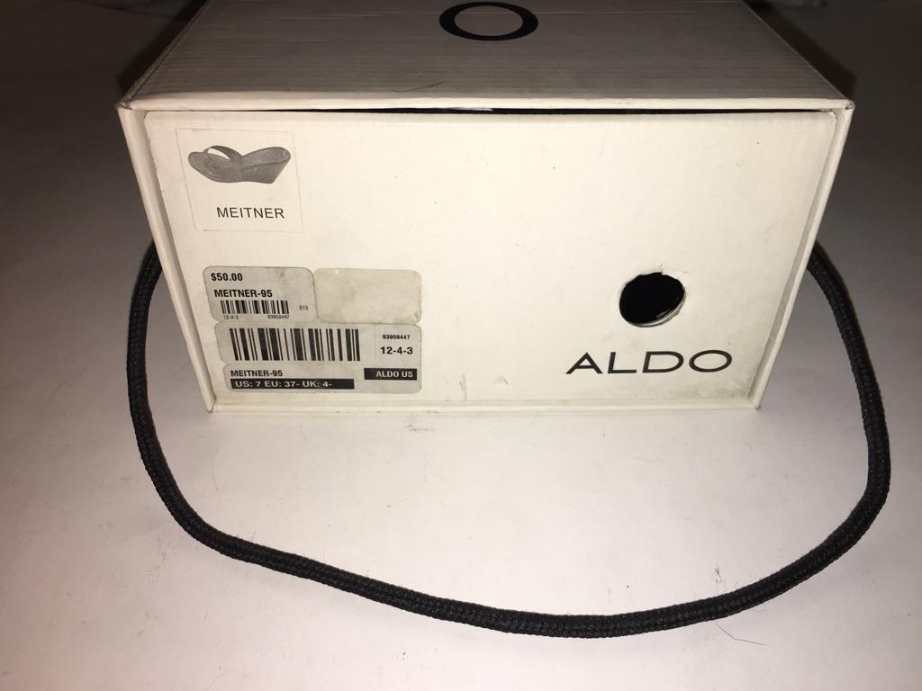 Aldo Meitner Black Patent Wedge heel