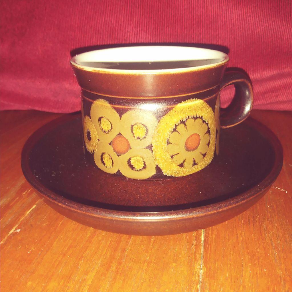 Denby Arabesque Tea Cup & Saucer