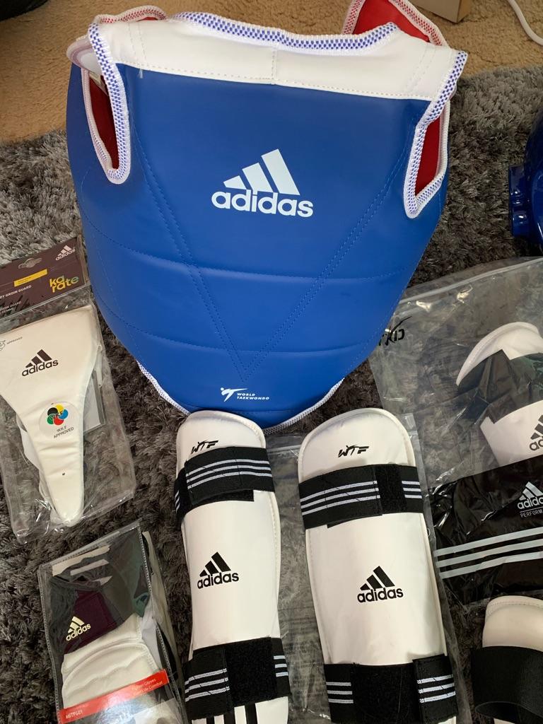 Taekwondo Adidas full body protection kit.