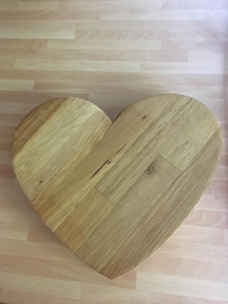 Wooden Heart Chopping Board