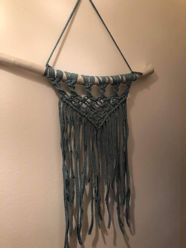 Handmade Macrame in fabric yarn