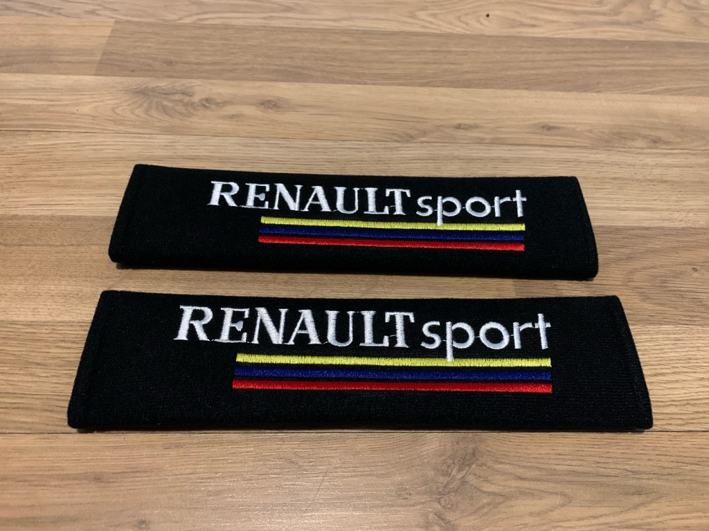 2X Seat Belt Pads Renault Sport Megane Clio RS Trophy Sport Tuning