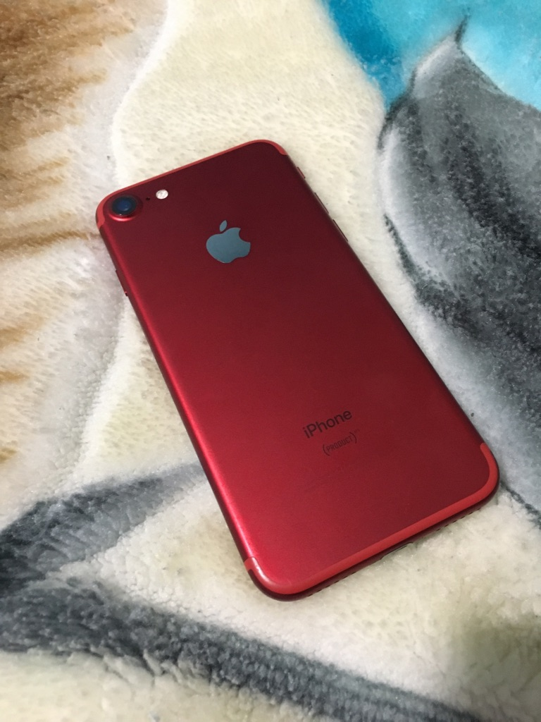 iPhone 7 red 128gb att cricket with box and charger
