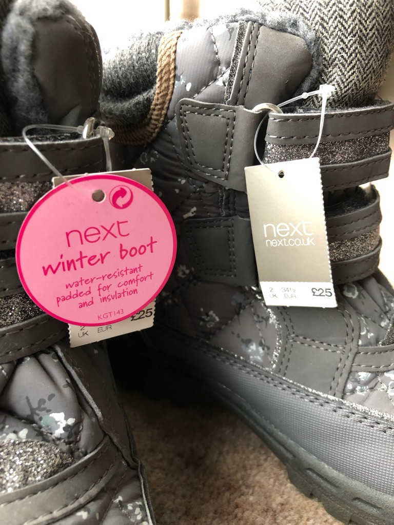 Brand New Snow Boots Girls Size 2 Eur 34.5
