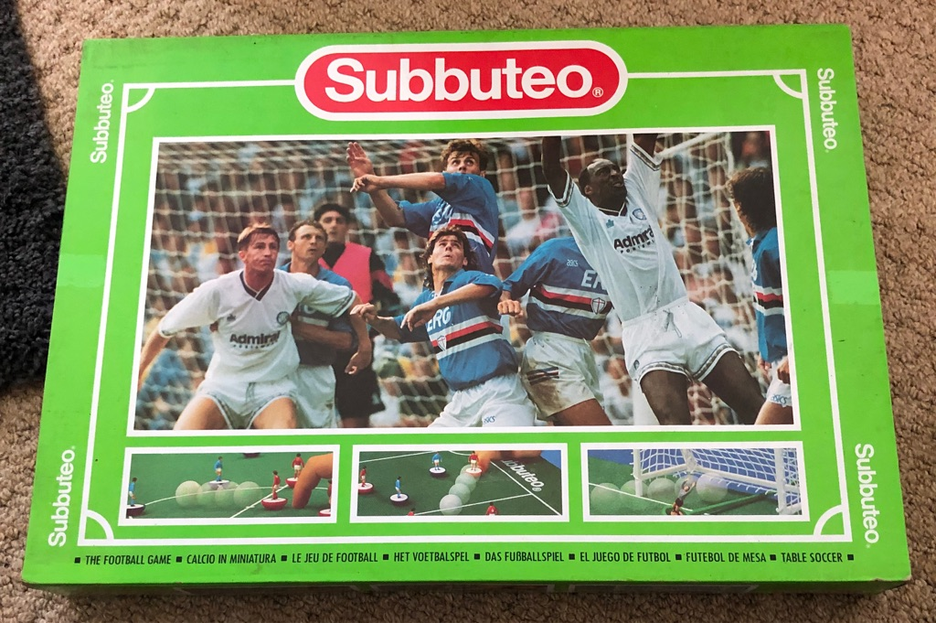 1990'S SUBBUTEO TABLE FOOTBALL GAME